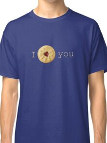 I Love you (Jammie Dodger) Doctor Who Classic T-Shirt