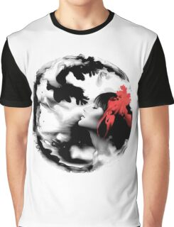 Psychedelic Dreaming Rorschach Black & White Ink Girl Graphic T-Shirt