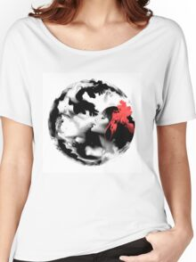 Psychedelic Dreaming Rorschach Black & White Ink Girl Women's Relaxed Fit T-Shirt