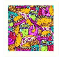 Fast Food Frenzy! Art Print