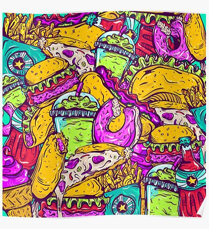 Fast Food Frenzy! Poster