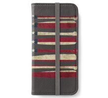 America baseball flag iPhone Wallet/Case/Skin