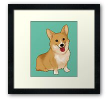 Cute smiling corgi Framed Print