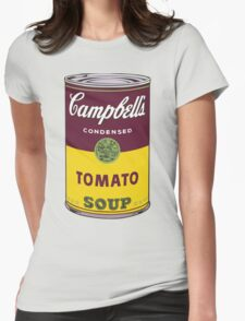 Campbell's Soup Andy Warhol Womens Fitted T-Shirt
