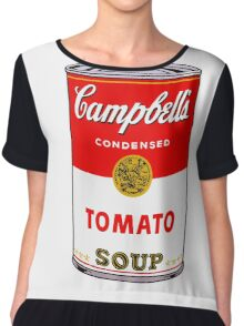 Campbell's Soup Andy Warhol Chiffon Top