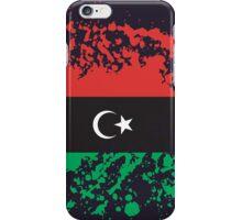 Libya Flag Ink Splatter iPhone Case/Skin