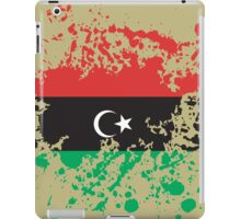Libya Flag Ink Splatter iPad Case/Skin