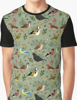 Garden Birds Graphic T-Shirt