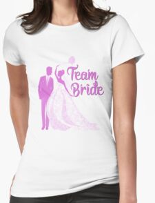 Team Bride Orchid Purple Wedding Color Bachelorette Party Bridal Groom Womens Fitted T-Shirt