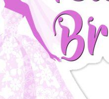 Team Bride Orchid Purple Wedding Color Bachelorette Party Bridal Groom Sticker