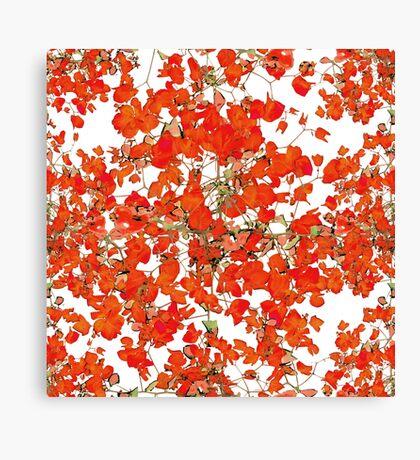 Vivid Floral Collage Pattern Canvas Print