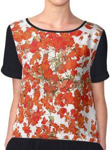 Vivid Floral Collage Pattern Chiffon Top