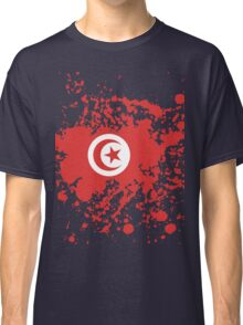 Tunisia Flag Ink Splatter Classic T-Shirt