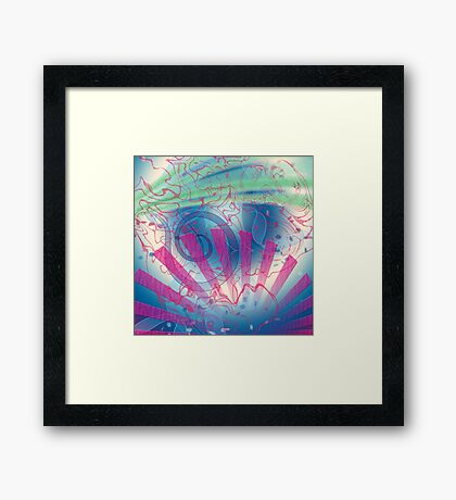Swirls and Rays, Gradients and Spirals Framed Print