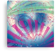 Swirls and Rays, Gradients and Spirals Canvas Print