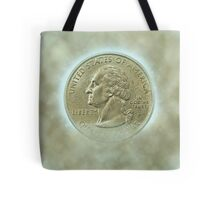 Digitally Enhanced US one Quarter Dollar coin (25 cents) Tote Bag