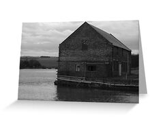 Abandoned Warehouse On River Greeting Card