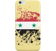 Syria Flag Ink Splatter iPhone Case/Skin