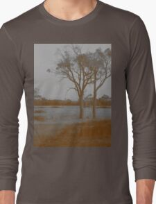 Countryside - Sepia Long Sleeve T-Shirt