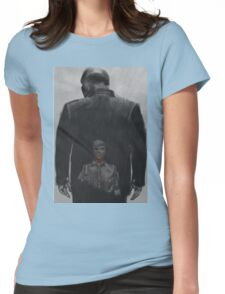 Rabbit in a snowstorm Womens Fitted T-Shirt