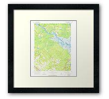 USGS TOPO Map New Jersey NJ Green Bank 254427 1956 24000 Framed Print