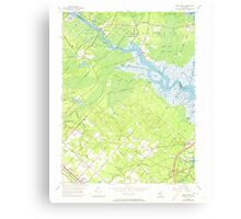 USGS TOPO Map New Jersey NJ Green Bank 254427 1956 24000 Canvas Print