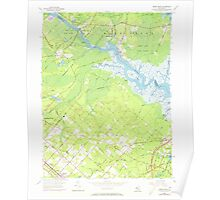 USGS TOPO Map New Jersey NJ Green Bank 254427 1956 24000 Poster