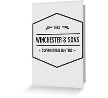 Supernatural - Winchester Greeting Card