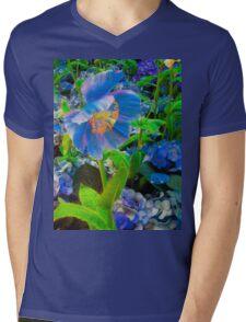 Himalayan Blue Poppy  Mens V-Neck T-Shirt
