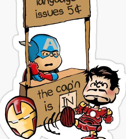 The Cap'n Is In Sticker