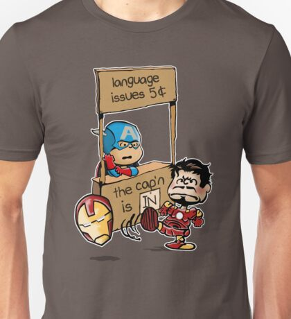 The Cap'n Is In Unisex T-Shirt