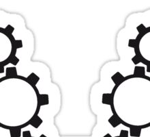 line series gears machine clockwork turn mechanically cool chain necklace Sticker