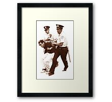 Bernie Sanders Arrested Framed Print