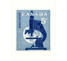 Canada postage stamp, 1958, science Art Print