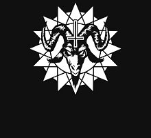 Satanic Goat Head with Chaos Star (white) Unisex T-Shirt