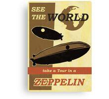 Zeppelin Poster Canvas Print