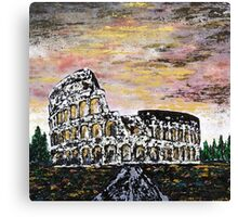 Colosseum - rome Canvas Print
