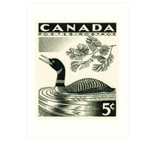 Canada postage stamp, 1957, loon Art Print