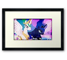 CELESTIA & LUNA TAKE ON DISCORD Framed Print