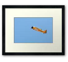 Flying up single engine trainer North American Harvard IV. Framed Print