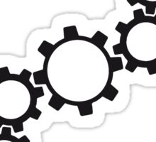 line series gears machine clockwork turn mechanically cool Sticker
