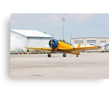 Single engine trainer North American Harvard IV rolling to location for stop. Canvas Print