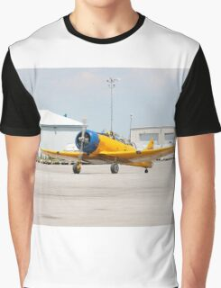 Single engine trainer North American Harvard IV rolling to location for stop. Graphic T-Shirt