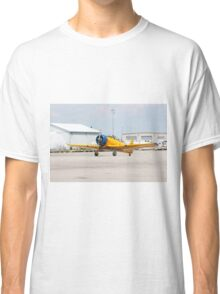 Single engine trainer North American Harvard IV rolling to location for stop. Classic T-Shirt