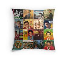 Elvis Artwork - collage  Throw Pillow