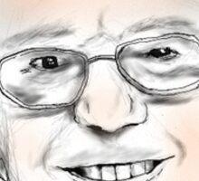 Bernie Is Bae Flower Crown Print Sticker