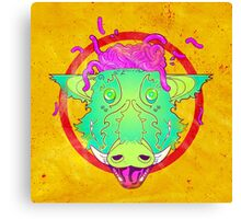 Exploding boar brains Canvas Print