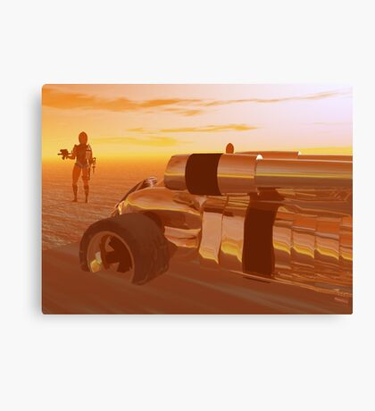 ARES CYBORG IN THE DESERT OF HYPERION,Sci Fi Canvas Print