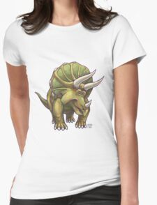 Animal Parade Triceratops Womens Fitted T-Shirt