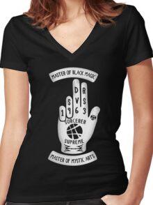 Sorcerer Hand Women's Fitted V-Neck T-Shirt